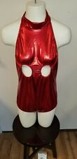 Wolf Unitard Sexy Women's Bodysuit XL Red