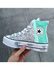 CONVERSE All Star Platform Tiffany/Argento Personalizzata