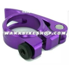 """TNT Bicycles BMX Quick-Release Seat Post Clamp - 31.8mm - 1-1/4"""" - Purple"""