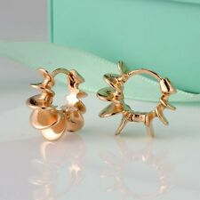 Unique 18k Yellow Gold Filled Charms Earrings 18mm Hoop Huggie Fashion Jewelry