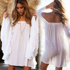 New Sexy Women Summer Boho Short Mini Beach Dress Evening Party Cover Up Dresses