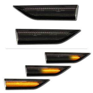 SCHWARZE dynamische LED Seitenblinker VW Caddy IV 4 (Typ: SA) 2015- Klavierlack