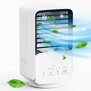 Portable Air Conditioner, AUZKIN Evaporative Air Cooler Desk Fan with 3 Speeds,