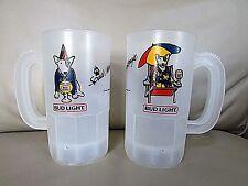 2 lot Spuds vintage MacKenzie super mug Bud Light Plastic Beer cups 1986
