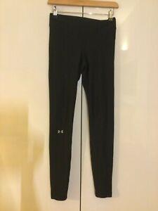 Under Armour gym yoga running leggings black size 8 (small)