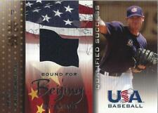 2006-07 Usa Baseball Bound for Beijing Game Used #8 Jeff Farnsworth jersey Nm-Mt