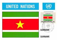 Carte Maximum FDC UNITED NATIONS drapeau Suriname Edit 1980