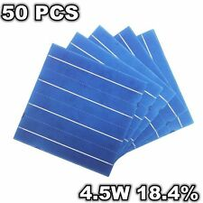 50 Pcs Polysilicon Solar Cell 6 x 6 4.5W A Grade Polycrystalline DIY Solar Panel