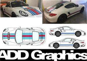 PORSCHE 911 Martini stripes porsche 911 cayman RALLY CAR GRAPHICS / DECALS