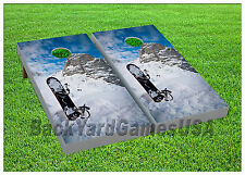 Vinyl Wraps Cornhole Boards Decals Snowboarding Fans Bag Toss Game Stickers 369