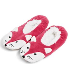 Vera Bradley Foxwood Cozy Life Sherpa slippers Small (5-6) NWT