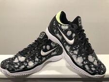 Nike Air Zoom Cage 3 Hc Premium Tennis Shoes Black White 923121-002 Mens Size 10