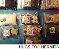 Hermit Crab Food TRUE ORGANIC, QUALITY INGREDIENTS Fruit Protein 10 FULL 2x3!!