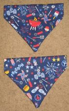 Patriotic 4th July BBQ Fireworks Flip Flops Dog Bandana - 5 sizes XS-XL