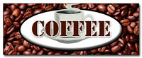 "24"" COFFEE DECAL sticker shop cafe beans hot java retail storefront marketing"