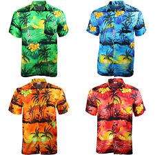 HAWAIIAN SHIRT PARTY FANCY DRESS S XL XXL BEACH CRUISE STAG COTTON FEEL L M 3XL