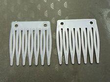 50 White Plastic Mini Hair Clips Side Combs Pin Magic Grip Hair Pins 32mm