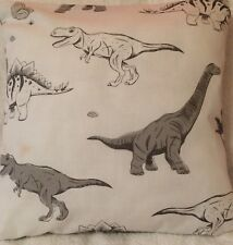 Dinosaur Jurassic White Grey Handmade cushion cover/pillow case 16 x 16 inch