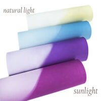20*34cm UV Light Reactive Synthetic Leather DIY Home Textile Decorative Material