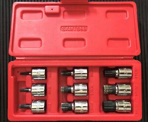 MAC TOOLS  SXMTS9B  9-Piece Metric Triple Square Driver Set  4mm - 16mm