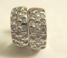 14K White Gold  Huggie Earrings  5.90 Grams  5 MM Wide & 15 MM Tall