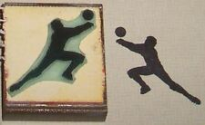 Volleyball Player Rubber Stamp by Amazing Arts