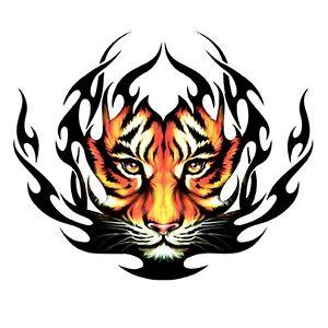 Adesivo Tigre Tribale adesivo cafano auto cm 90 x 75