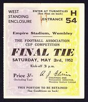 1952 FA Cup Final ARSENAL v NEWCASTLE UNITED *VG Condition Ticket*