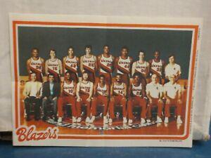 1980 NBA TOPPS CHEWING GUM PRINT---PORTLAND TRAILBLAZERS
