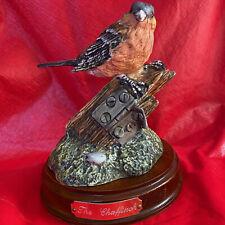 Royal Doultonchaffinch & Wood Base Garden Birds Collection Model # Da 5
