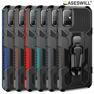 For Samsung Galaxy A42 M51 A21S A71 A51 A32 A12 Shockproof Case With Belt Clip