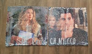 Schitts Creek David Rose and Alexis Rose Sequin Pillow Case Rare Gift Fan NEW