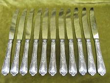 11 couteaux de table métal argenté rocaille (dinner knives) Manulor