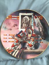 """Hamilton Collection """"A Mile in His Moccasins"""" by Lisa Danielle plate"""