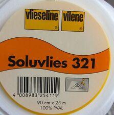 1m Soluvlies Freudenberg 3,79 Euro/m wasserlöslich 90cm breit Vlies Vlieseline