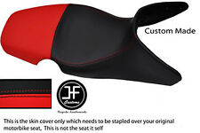 RED & BLACK AUTOMOTIVE VINYL CUSTOM 01-07 FITS BMW F 650 GS DUAL SEAT COVER