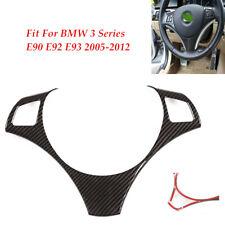 For BMW 3 Series E90 E92 E93 Carbon Fiber Steering Wheel Cover Decoration Trim
