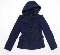 New Look Womens Size 8 Blue Coat
