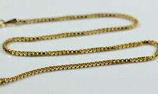 "14K ITALY Yellow Gold Milor BOX Link Bracelet 1.4 GRAMS 9"" Long"