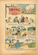 Caricature Traiteur Cure-Dents Village Poisson Garde Barrière 1937 ILLUSTRATION
