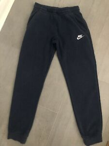 Navy Nike Tracksuit bottoms and zip hoody Kids size Large