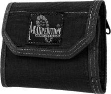"Maxpedition CMC Wallet 0253B Closed, empty size: 5"" L x 3.5"" H x 1"" W. Open, emp"