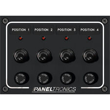 Paneltronics Waterproof Panel - DC 4-Position Toggle Switch & Fuse w/LEDs