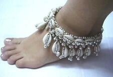 New Kuchi Tribal Ethnic Belly Dance Cowries Anklet~Payal Jewelry India ~ 2Pc.