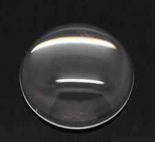 10x Glascabochons 18mm rund klar