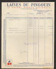 """ROUBAIX (59) LAINE à TRICOTER """"LAINE DU PINGOUIN"""" en 1950"""