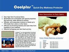 New! Coolplus Quick-Dry Mattress Protector Queen