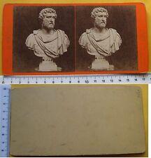 Stereophoto Busto dell'imperatore Antonino Pio - Ed. Brogi n. 5096 metà '800