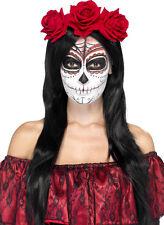 Tag Der MORTI Rose CERCHIETTI per capelli NUOVO - Carnevale Cappello berretto