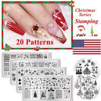 Christmas Theme BORN PRETTY Stamping Plates Snow Deer Templates Nail Art Tools